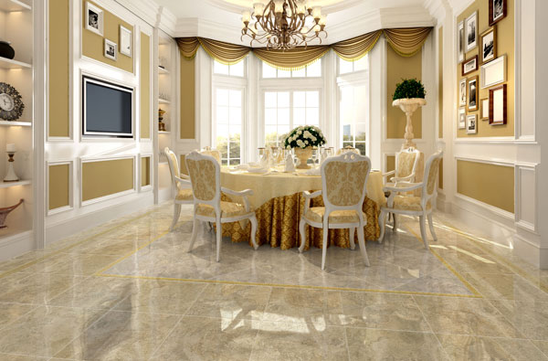 How to clean polished porcelain tiles