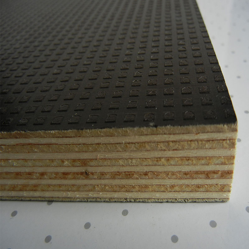 Metal Faced Plywood ~ Anti slip face film faced plywood poplar core